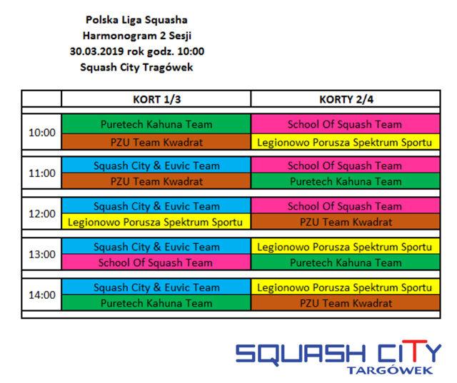 Polska Liga Squasha na Targówku